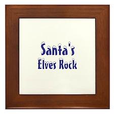 Santa's Elves Rock Framed Tile