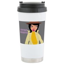 Mystery Brunette design Travel Mug