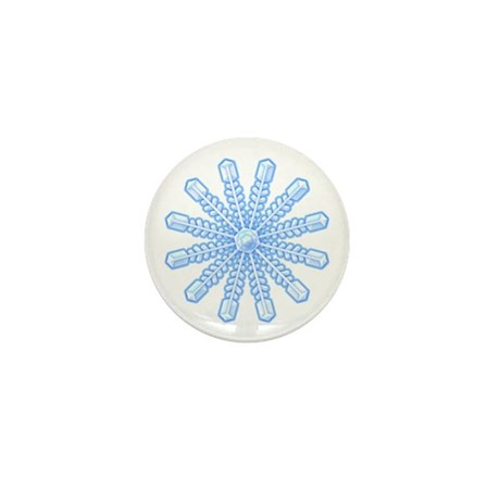 Flurry Snowflake V Mini Button