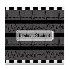 medical student 3 Tile Coaster