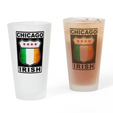 Chicago Irish American Sign Drinking Glass