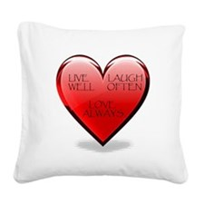 heart lll copy.jpg Square Canvas Pillow