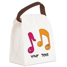 Personalized Music Notes Canvas Lunch Bag