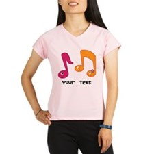Personalized Music Notes Performance Dry T-Shirt