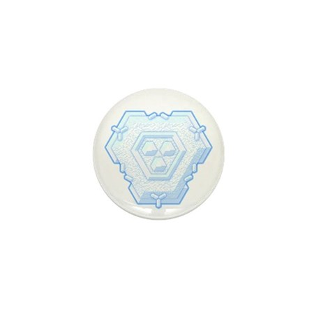 Flurry Snowflake IV Mini Button