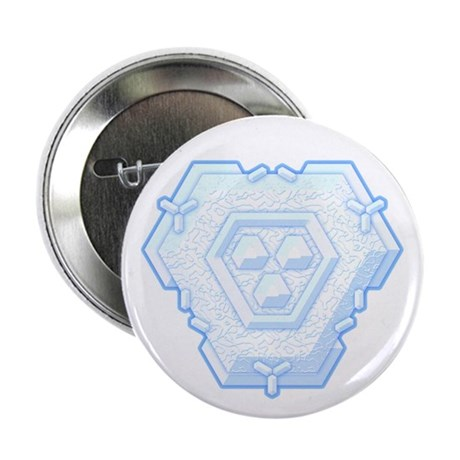 Flurry Snowflake IV Button
