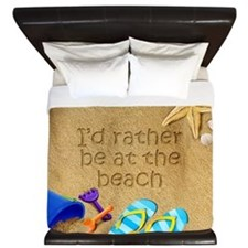 Rather be at Beach King Duvet
