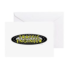 Traffic Engineer Oval Greeting Card