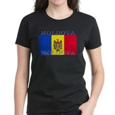 Moldova Moldovan Flag Women's Black T-Shirt