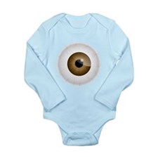 Bloodshot Brown Eyeball Body Suit