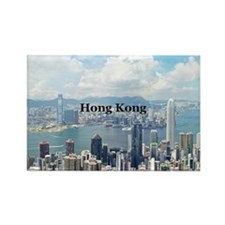 Hong Kong Rectangle Magnet