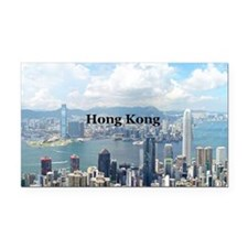 Hong Kong Rectangle Car Magnet