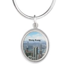 Hong Kong Silver Oval Necklace