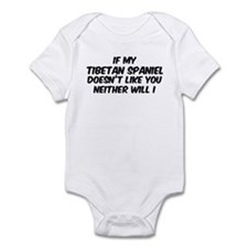If my Tibetan Spaniel Infant Bodysuit