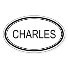 Charles Oval Design Oval Decal