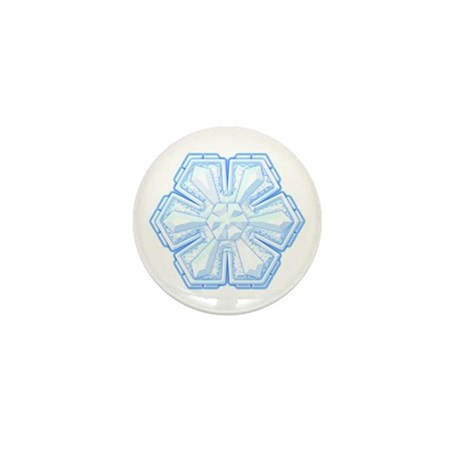 Flurry Snowflake II Mini Button
