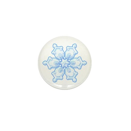 Flurry Snowflake I Mini Button