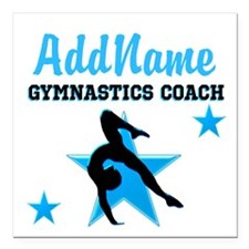 "NUMBER 1 COACH Square Car Magnet 3"" x 3"""