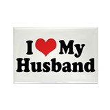 I Love My Husband Rectangle Magnet (10 pack)