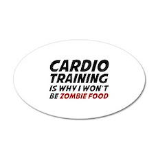Cardio Training Zombie Food 22x14 Oval Wall Peel