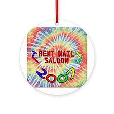 2007 Bent Nail Tie Dye logo Ornament (Round)