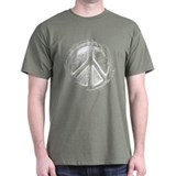 Urban Peace Sign Sketch T-Shirt