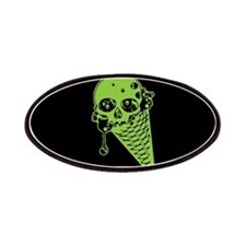 Skull Poison Ice Cream Cone Patches