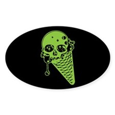 Skull Poison Ice Cream Cone Decal