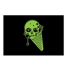 Skull Poison Ice Cream Cone Postcards (Package of