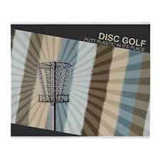 Putt Plastic In Its Place Throw Blanket