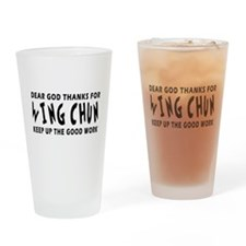 Wing Chun Martial Arts Designs Drinking Glass
