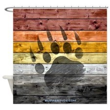 Bear Wood_1 Shower Curtain