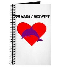 Custom Purple Dolphin Heart Journal