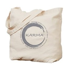 Karma, What goes around comes around Tote Bag