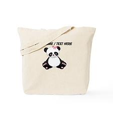 Custom Girl Panda Tote Bag