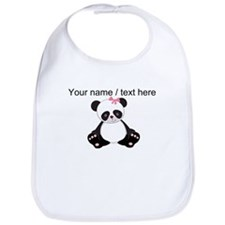 Custom Girl Panda Bib