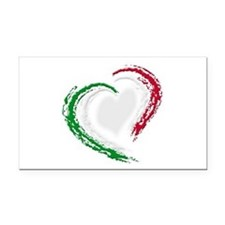 Italian Heart Rectangle Car Magnet