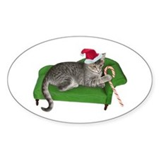 Christmas Cat Couch Decal