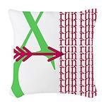 XC Run Light Green Scarlet Woven Throw Pillow