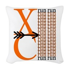 XC Run Orange Black Woven Throw Pillow