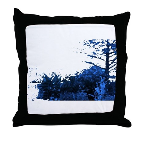 Blue Garden Throw Pillow