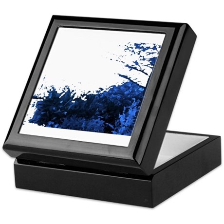 Blue Garden Keepsake Box