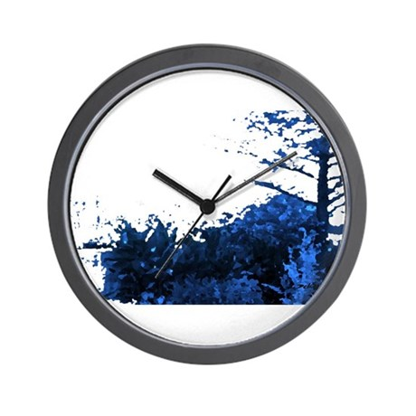 Blue Garden Wall Clock