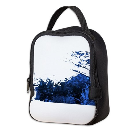 Blue Garden Neoprene Lunch Bag