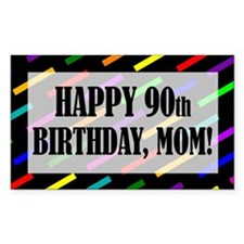 90th Birthday For Mom Decal