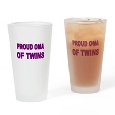 PROUD OMA OF TWINS Drinking Glass