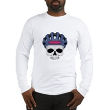 Cycling Skull Head Long Sleeve T-Shirt