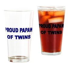 PROUD PAPAW OF TWINS Drinking Glass