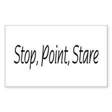 stop point stare Rectangle Decal