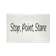 stop point stare Rectangle Magnet